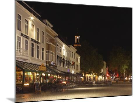 Cafes and Restaurants at the Grote Markt (Big Market) Square at Night, Breda, Noord-Brabant, Nether-Stuart Forster-Mounted Photographic Print