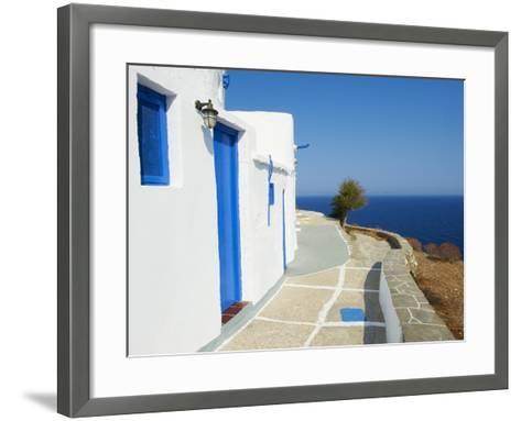 Blue Door and Shutters, Kastro Village, Sifnos, Cyclades Islands, Greek Islands, Aegean Sea, Greece-Tuul-Framed Art Print