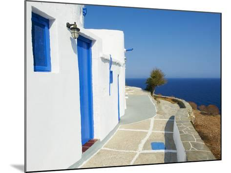 Blue Door and Shutters, Kastro Village, Sifnos, Cyclades Islands, Greek Islands, Aegean Sea, Greece-Tuul-Mounted Photographic Print