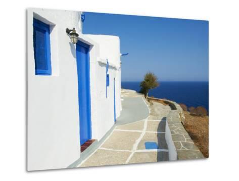 Blue Door and Shutters, Kastro Village, Sifnos, Cyclades Islands, Greek Islands, Aegean Sea, Greece-Tuul-Metal Print