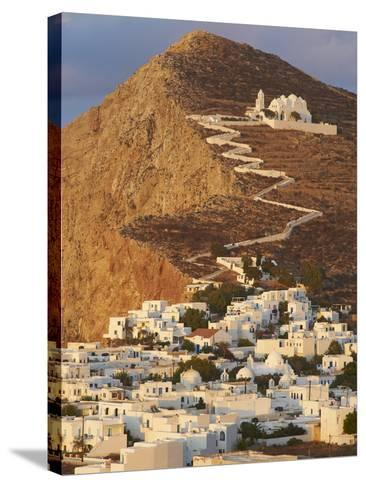 Panagia Kimissis Monastery, Kastro, the Chora Village, Folegandros, Cyclades Islands, Greek Islands-Tuul-Stretched Canvas Print