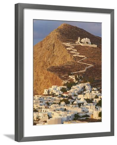 Panagia Kimissis Monastery, Kastro, the Chora Village, Folegandros, Cyclades Islands, Greek Islands-Tuul-Framed Art Print