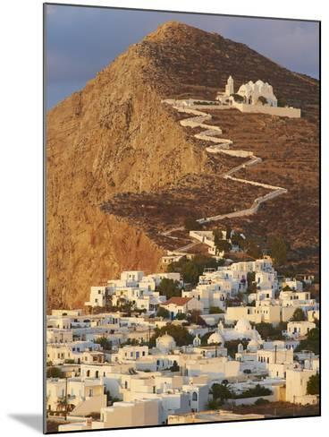 Panagia Kimissis Monastery, Kastro, the Chora Village, Folegandros, Cyclades Islands, Greek Islands-Tuul-Mounted Photographic Print