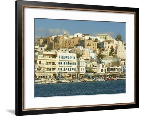 The Chora (Hora), Naxos, Cyclades Islands, Greek Islands, Aegean Sea, Greece, Europe-Tuul-Framed Art Print