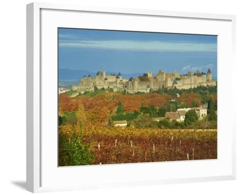 Medieval City of Carcassonne, UNESCO World Heritage Site, Aude, Languedoc-Roussillon, France, Europ-Tuul-Framed Art Print