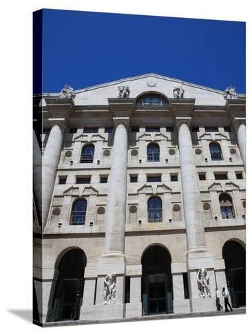 Stock Exchange Building, Milan, Lombardy, Italy, Europe-Vincenzo Lombardo-Stretched Canvas Print
