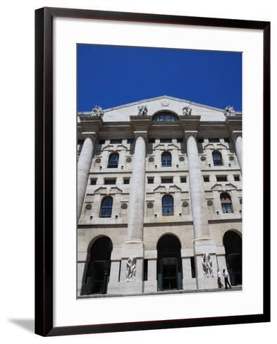 Stock Exchange Building, Milan, Lombardy, Italy, Europe-Vincenzo Lombardo-Framed Art Print