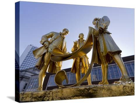 Boulton Statue, Birmingham, Midlands, England, United Kingdom, Europe-Charles Bowman-Stretched Canvas Print