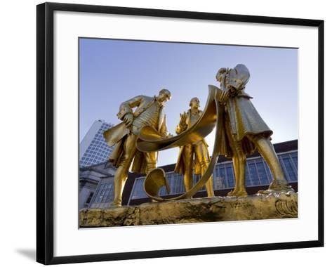 Boulton Statue, Birmingham, Midlands, England, United Kingdom, Europe-Charles Bowman-Framed Art Print