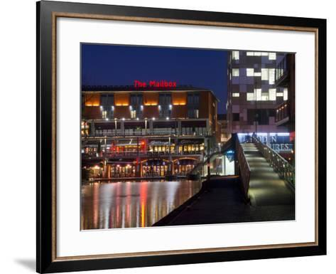 The Mailbox, Canal Area, Birmingham, Midlands, England, United Kingdom, Europe-Charles Bowman-Framed Art Print