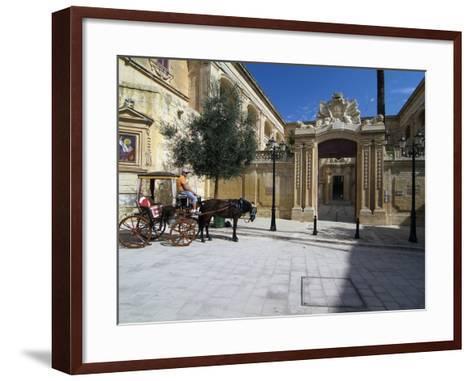 Old Town of Mdina, Malta, Mediterranean, Europe-Hans Peter Merten-Framed Art Print
