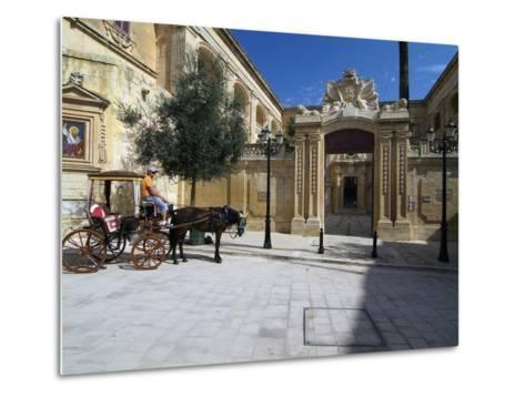 Old Town of Mdina, Malta, Mediterranean, Europe-Hans Peter Merten-Metal Print