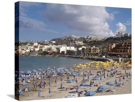 Mellieha Bay, Malta, Mediterranean, Europe-Hans Peter Merten-Stretched Canvas Print