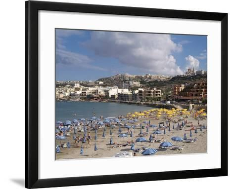 Mellieha Bay, Malta, Mediterranean, Europe-Hans Peter Merten-Framed Art Print