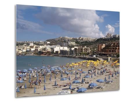 Mellieha Bay, Malta, Mediterranean, Europe-Hans Peter Merten-Metal Print