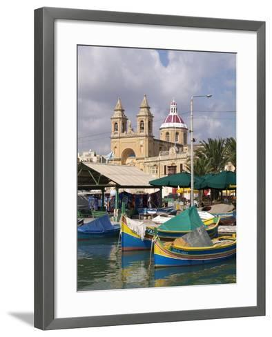 Marsaxlokk, Malta, Mediterranean, Europe-Hans Peter Merten-Framed Art Print