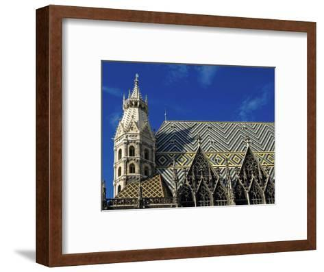 Roof of Stephansdom, UNESCO World Heritage Site, Vienna, Austria, Europe-Hans Peter Merten-Framed Art Print
