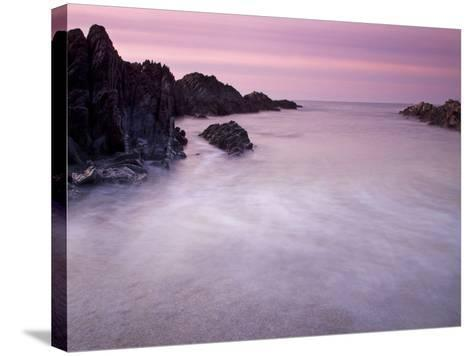 Combesgate Beach, Devon, England, United Kingdom, Europe-Jeremy Lightfoot-Stretched Canvas Print