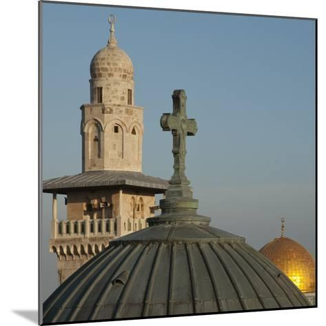 Ecce Homo Dome, Minaret and Dome of the Rock, Jerusalem, Israel, Middle East-Eitan Simanor-Mounted Photographic Print