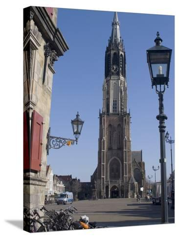 View of the Nieuwe Kerk (New Church) on the Market Square, Delft, Netherlands, Europe-Ethel Davies-Stretched Canvas Print