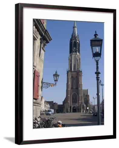 View of the Nieuwe Kerk (New Church) on the Market Square, Delft, Netherlands, Europe-Ethel Davies-Framed Art Print