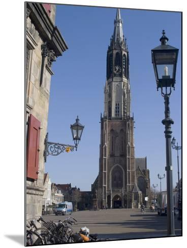 View of the Nieuwe Kerk (New Church) on the Market Square, Delft, Netherlands, Europe-Ethel Davies-Mounted Photographic Print
