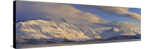 Looking across Ullsfjord, Towards the Southern Lyngen Alps, Troms, Norway, Scandinavia, Europe-Neale Clark-Stretched Canvas Print