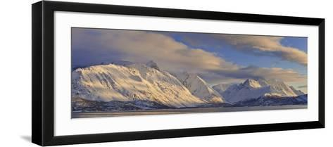 Looking across Ullsfjord, Towards the Southern Lyngen Alps, Troms, Norway, Scandinavia, Europe-Neale Clark-Framed Art Print