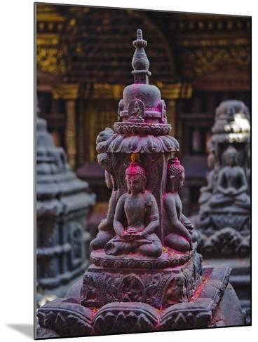 Buddha Statue at Swayambunath Temple, UNESCO World Heritage Site, Kathmandu, Nepal, Asia-Mark Chivers-Mounted Photographic Print