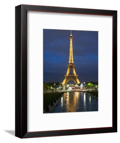 Eiffel Tower and Reflection at Twilight, Paris, France, Europe-Richard Nebesky-Framed Art Print
