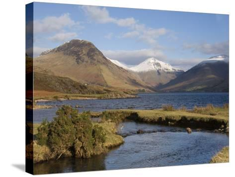 Lake Wastwater, Yewbarrow, Great Gable and Lingmell, Wasdale, Lake District National Park, Cumbria,-James Emmerson-Stretched Canvas Print