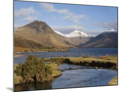 Lake Wastwater, Yewbarrow, Great Gable and Lingmell, Wasdale, Lake District National Park, Cumbria,-James Emmerson-Mounted Photographic Print