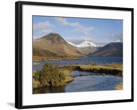Lake Wastwater, Yewbarrow, Great Gable and Lingmell, Wasdale, Lake District National Park, Cumbria,-James Emmerson-Framed Art Print