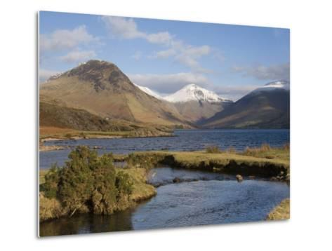 Lake Wastwater, Yewbarrow, Great Gable and Lingmell, Wasdale, Lake District National Park, Cumbria,-James Emmerson-Metal Print