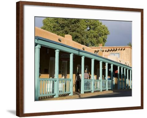 Palace Avenue, Santa Fe, New Mexico, United States of America, North America-Richard Cummins-Framed Art Print