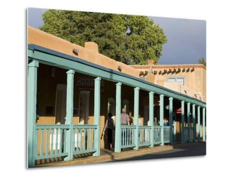 Palace Avenue, Santa Fe, New Mexico, United States of America, North America-Richard Cummins-Metal Print