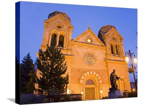 Cathedral Basilica of St. Francis of Assisi, Santa Fe, New Mexico, United States of America, North -Richard Cummins-Stretched Canvas Print