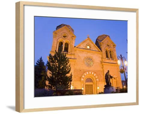 Cathedral Basilica of St. Francis of Assisi, Santa Fe, New Mexico, United States of America, North -Richard Cummins-Framed Art Print