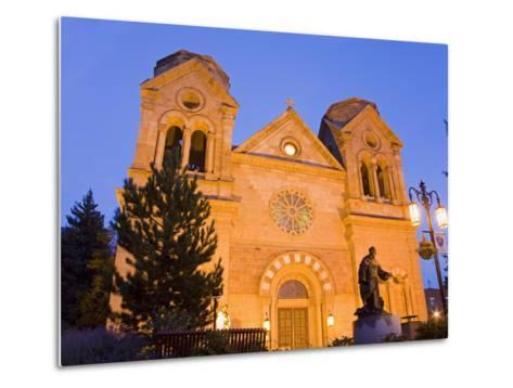 Cathedral Basilica of St. Francis of Assisi, Santa Fe, New Mexico, United States of America, North -Richard Cummins-Metal Print