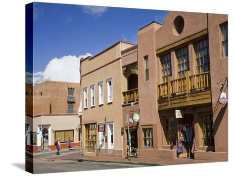 Water Street, Santa Fe, New Mexico, United States of America, North America-Richard Cummins-Stretched Canvas Print
