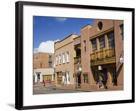 Water Street, Santa Fe, New Mexico, United States of America, North America-Richard Cummins-Framed Art Print