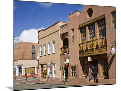 Water Street, Santa Fe, New Mexico, United States of America, North America-Richard Cummins-Mounted Photographic Print
