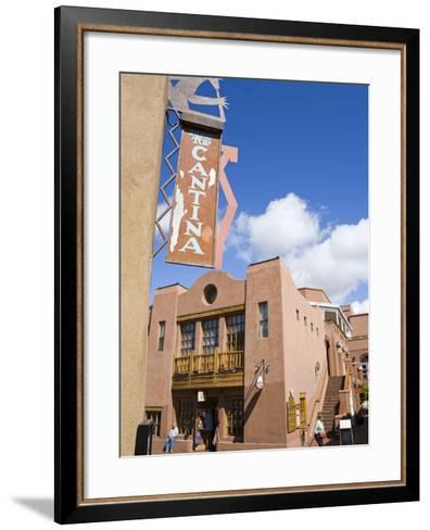 Water Street, Santa Fe, New Mexico, United States of America, North America-Richard Cummins-Framed Art Print