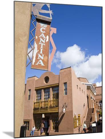 Water Street, Santa Fe, New Mexico, United States of America, North America-Richard Cummins-Mounted Photographic Print