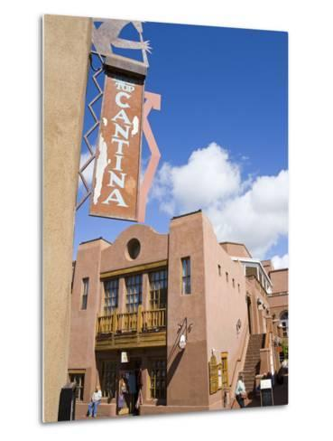 Water Street, Santa Fe, New Mexico, United States of America, North America-Richard Cummins-Metal Print