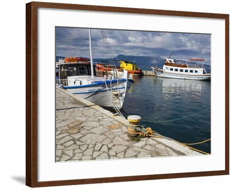 Fishing Boats in Corfu, Ionian Islands, Greek Islands, Greece, Europe-Richard Cummins-Framed Art Print