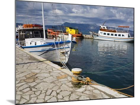 Fishing Boats in Corfu, Ionian Islands, Greek Islands, Greece, Europe-Richard Cummins-Mounted Photographic Print