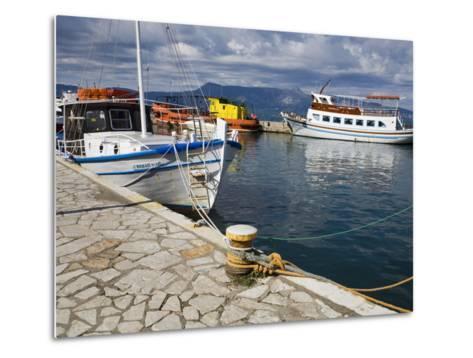 Fishing Boats in Corfu, Ionian Islands, Greek Islands, Greece, Europe-Richard Cummins-Metal Print