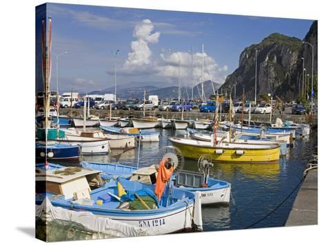 Fishing Boats in the Port of Marina Grande, Capri Island, Bay of Naples, Campania, Italy, Europe-Richard Cummins-Stretched Canvas Print