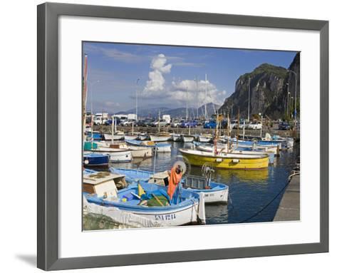 Fishing Boats in the Port of Marina Grande, Capri Island, Bay of Naples, Campania, Italy, Europe-Richard Cummins-Framed Art Print
